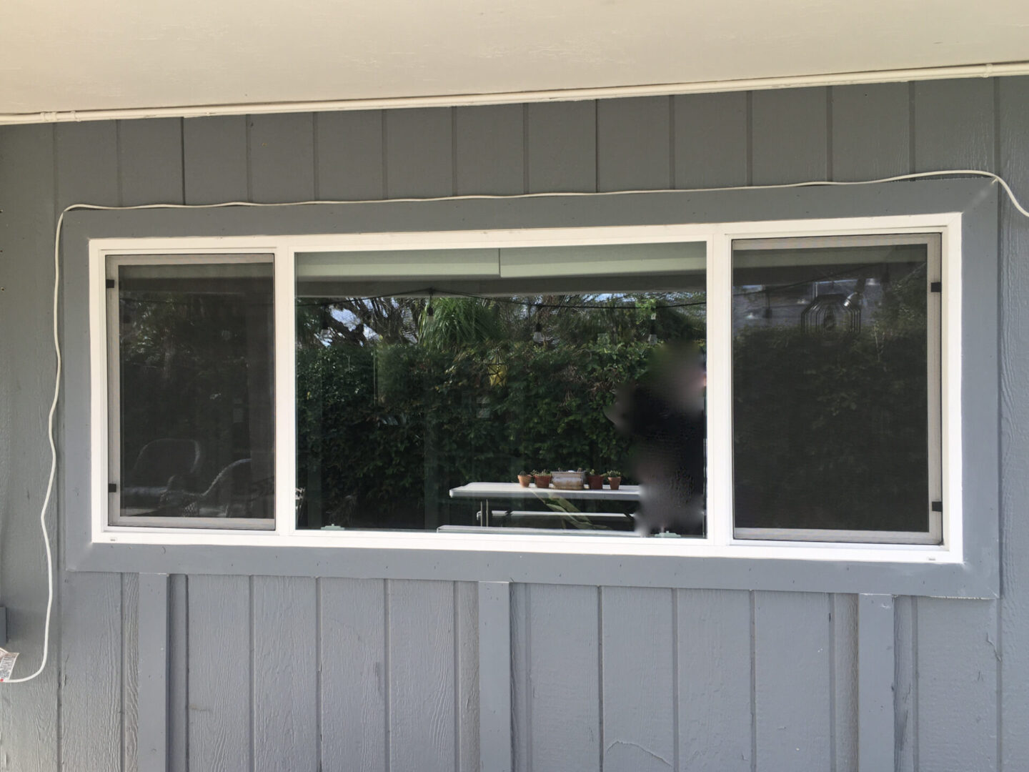 A picture of small vinyl windows