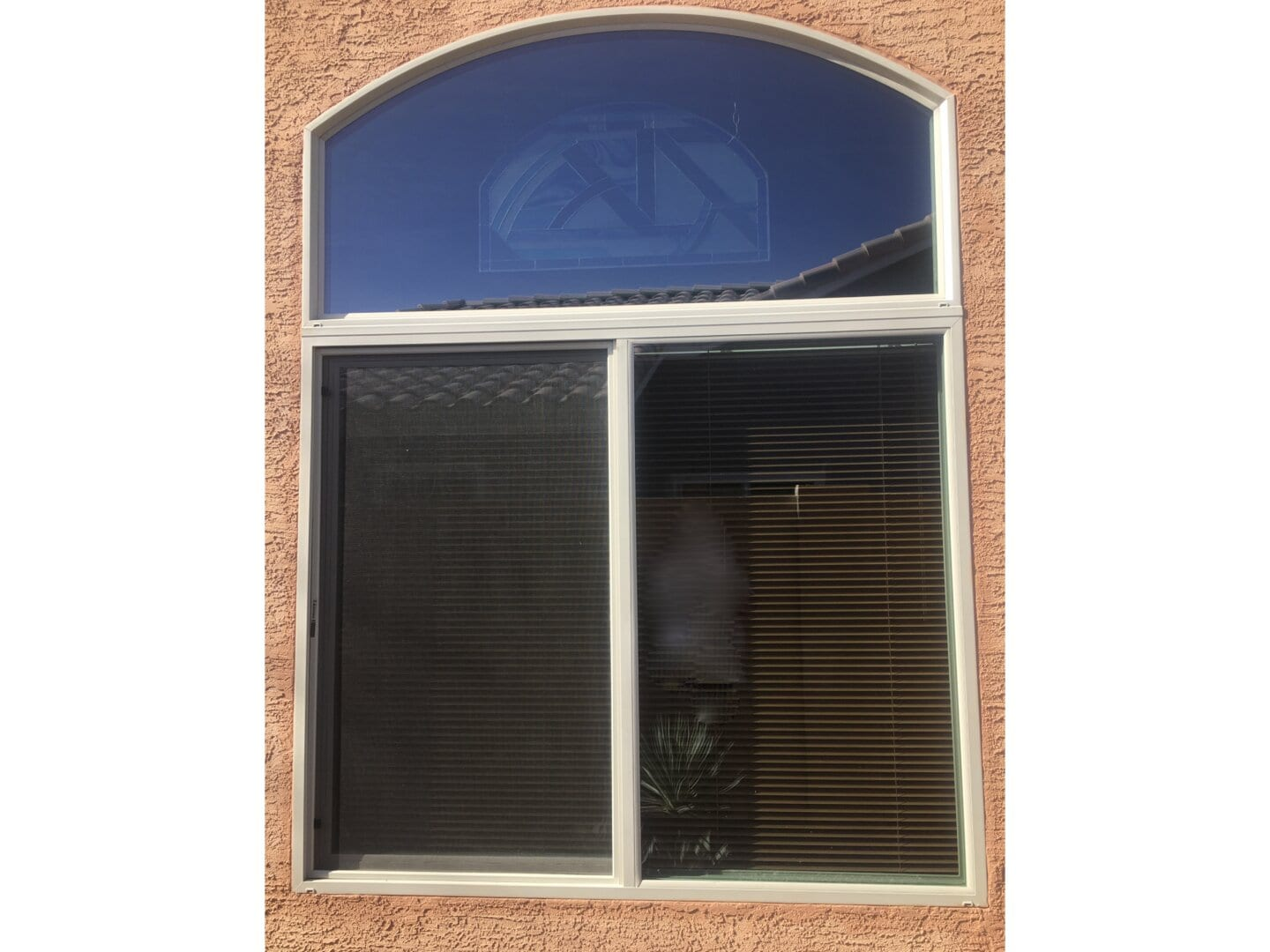 A picture of large vinyl windows